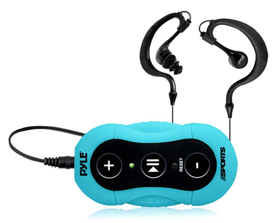 Pyle - PSWP20BL , Gadgets and Handheld , Headphones - MP3 Players , Sound and Recording , Headphones - MP3 Players , Surf Sound Waterproof MP3 Player with Headphones for Swimming & Water Sports (Blue)