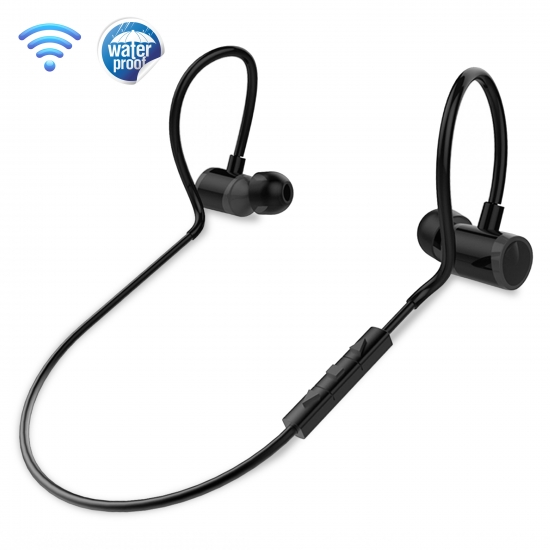 Pyle - PSWPHP43 , Gadgets and Handheld , Headphones - MP3 Players , Sound and Recording , Headphones - MP3 Players , Wireless Bluetooth Earbuds - Waterproof Sports In-Ear Headphones with Microphone for Call Answering