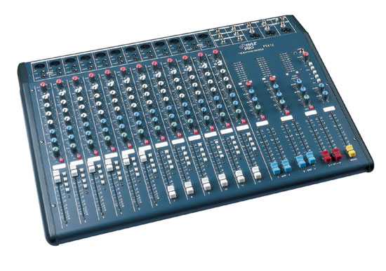 Pyle - PSX12 , DJ Equipment , DJ Mixers , 12 Input Channel Stereo Console Mixer