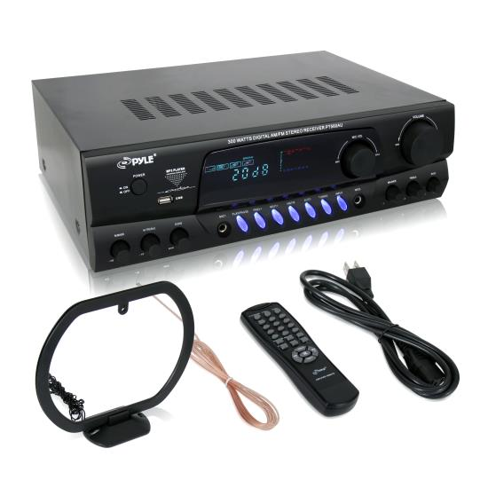 Pyle - pt560au , Sound and Recording , Amplifiers - Receivers , 300 Watts Digital AM/FM/USB Stereo Receiver
