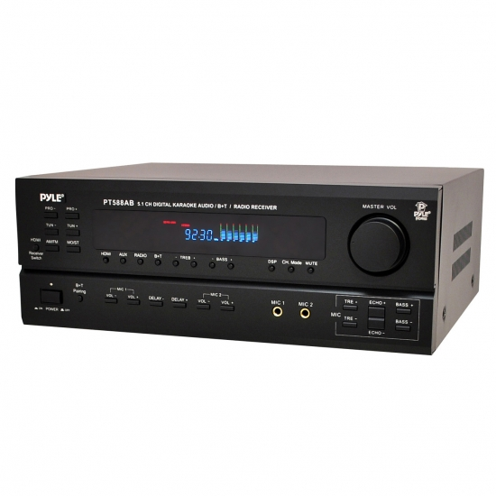 Pyle - PT588AB , Sound and Recording , Amplifiers - Receivers , Bluetooth 5.1 Channel Home Theater AV Receiver (HDMI, 4K Ultra & 3D TV Pass-Through Support)