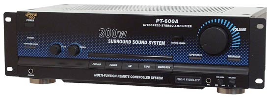 Pyle - PT600A , Sound and Recording , Amplifiers - Receivers , 300W Stereo Receiver / Amplifier