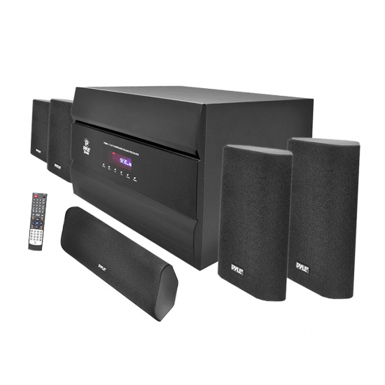 Pyle - PT628A , Sound and Recording , SoundBars - Home Theater , Sound and Recording , Amplifiers - Receivers , 400-Watt 5.1 Channel Home Theater System with AM/FM Tuner, CD, Multimedia Disc & MP3 Player Compatible