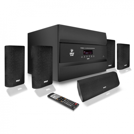 Pyle - PT678HBA , Home Audio / Video , Home Theater Systems , 400 Watts 5.1 Channel HDMI Home Theater System With Bluetooth Audio Playback, AM/FM Tuner