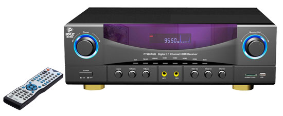 Pyle - PT980AUH , Sound and Recording , Amplifiers - Receivers , 7.1 channel 350 Watts Build-In AM/FM Radio /USB/SD card HDMI Amplifier Receiver
