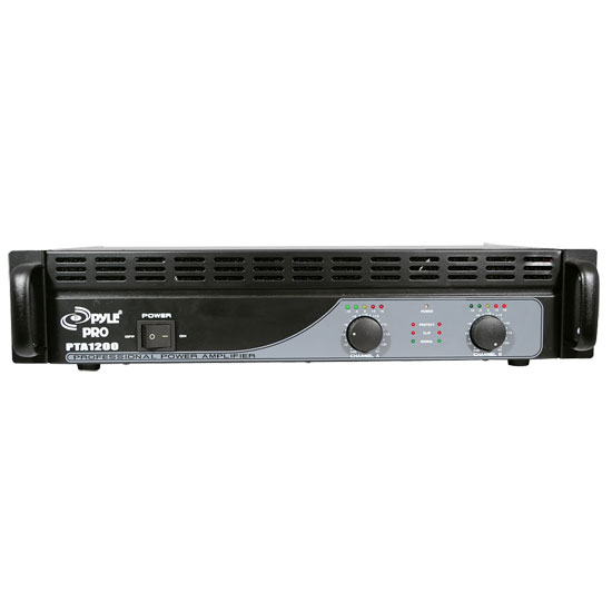 Pyle - PTA1200 , DJ Equipment , Power Amplifiers , 1200 Watts Professional Power Amplifier
