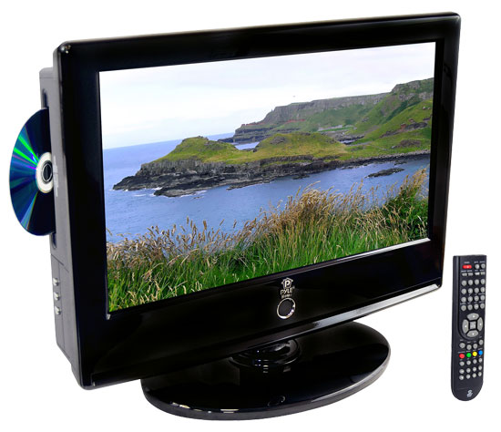 Pyle - PTC166LD , Home and Office , TVs - Monitors , 15.6'' Hi-Definition LCD Flat Panel TV w/ Built-In Multimedia Disc Player