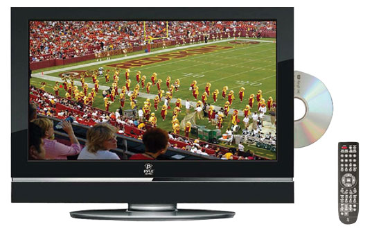 Pyle - PTC27LD , Home and Office , TVs - Monitors , 26'' Hi-Definition LCD Flat Panel TV w/ Built-In Multimedia Disc Player