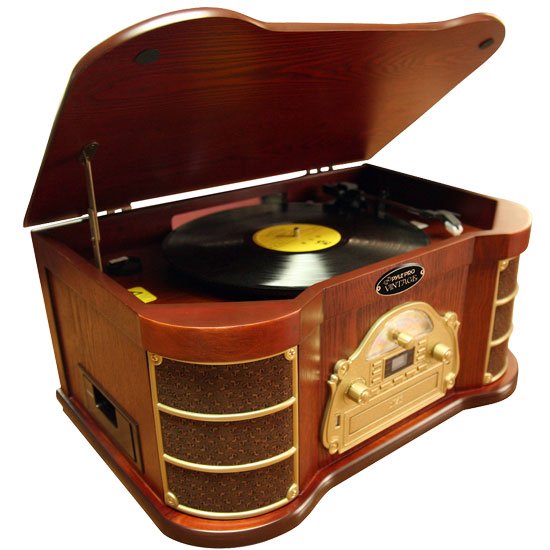 Pyle - PTCDS2UI , Musical Instruments , Turntables - Phonographs , Sound and Recording , Turntables - Phonographs , Classical Turntable with AM/FM Radio/ Cassette/ USB Recording & iPod  Player