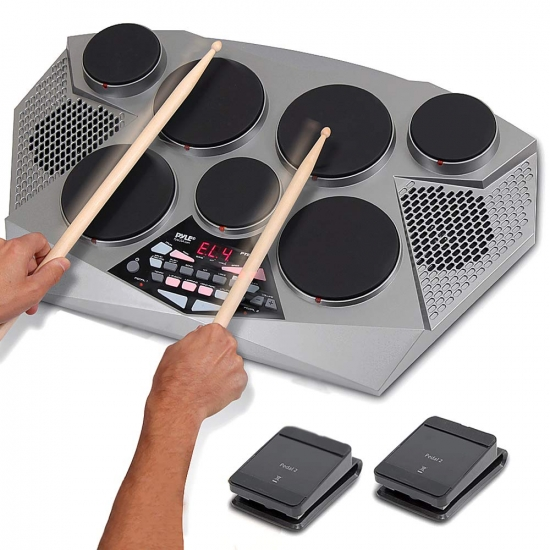 Pyle - PTED06 , Musical Instruments , Drums , Electronic Tabletop Drum Machine - Digital Drumming Kit