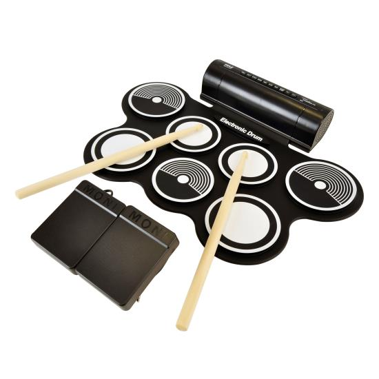 Pyle - PTEDRL12 , Musical Instruments , Drums , Electronic Drum Kit - Compact Drumming Machine, Quick Setup Roll-Up Design