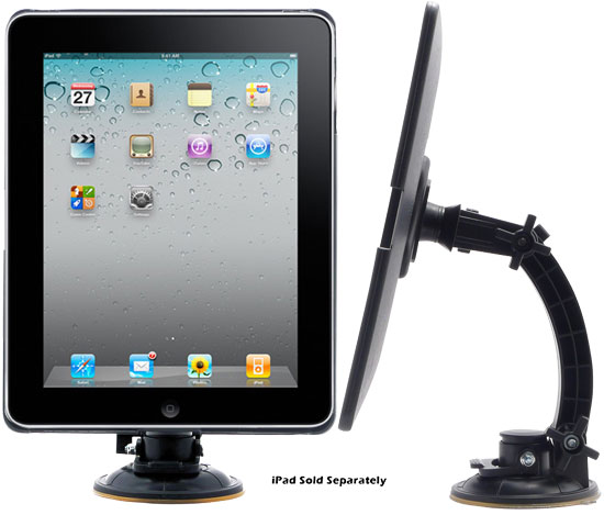 Pyle - PTPAD1 , Home and Office , Personal Radios - Alarm Clocks , ipad Player Adjustable Suction Window Mount