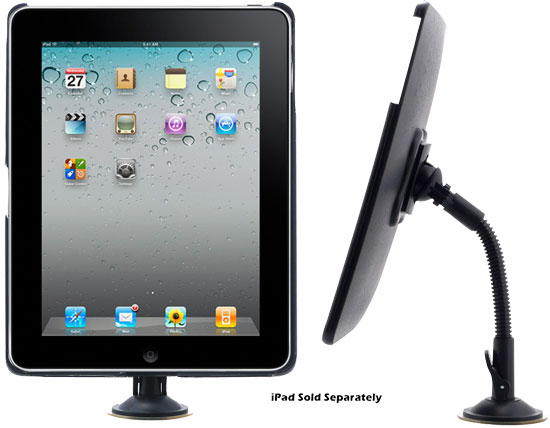 Pyle - PTPAD2 , Home and Office , Personal Radios - Alarm Clocks , ipad Player Adjustable Gooseneck Suction Window Mount