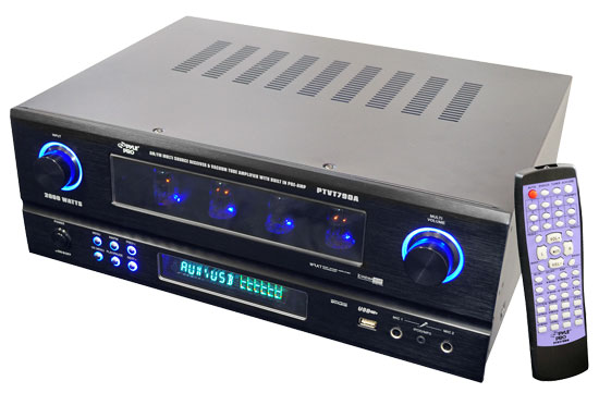 Pyle - PTVT790A , Home and Office , SoundBars - Home Theater , 19'' Rack Mount 2000 Watt AM/FM Multi Source Receiver & Vacuum Tube Amplifier with built in Pre-Amp.