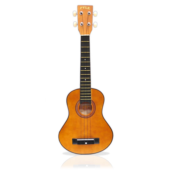 Pyle - PUKT12BR , Musical Instruments , Banjo - Ukulele , 25'' inch Tenor / Concert-Style Ukulele, Beginner Kit, Includes Gig Bag, Pick, Pitch Pipe (Maple/Dark Brown Finish)