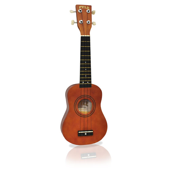 Pyle - PUKT15BR , Musical Instruments , Guitars , 21'' Soprano Ukelele With Bag, Picks, Maple/Brown Color