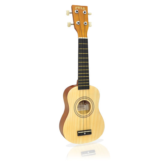 Pyle - PUKT15NT , Musical Instruments , Banjo - Ukulele , 21'' inch Soprano Ukulele, Beginner Kit, Includes Gig Bag, Pick, Pitch Pipe (Natural Light Wood Finish)