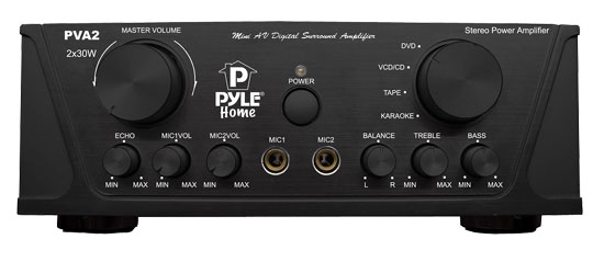 Pyle - PVA2 , Sound and Recording , Amplifiers - Receivers , 60 Watts Hi-Fi Mini Stereo Amplifier