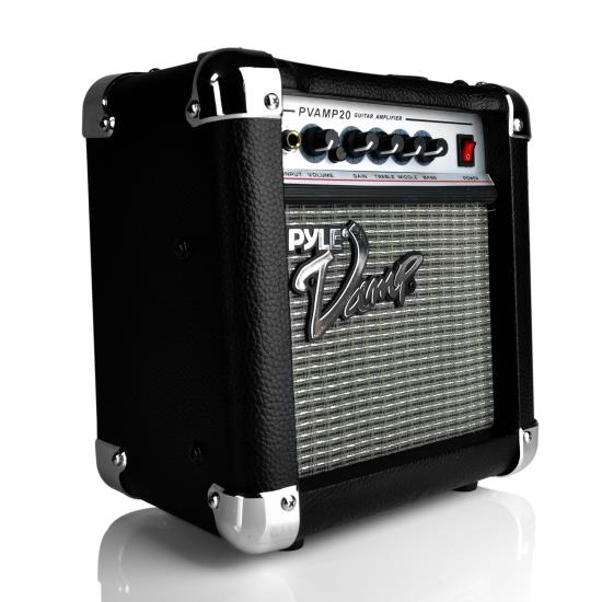 Pyle - PVAMP20 , DJ Equipment , Guitar Amplifiers , 20 Watt Vamp-Series Amplifier With 3-Band EQ