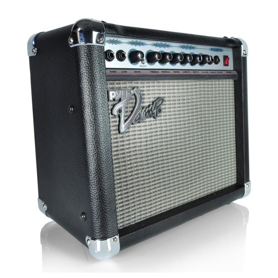 Pyle - PVAMP60 , DJ Equipment , Guitar Amplifiers , 60 Watt Vamp-Series Amplifier With 3-Band EQ, Overdrive, And Digital Delay