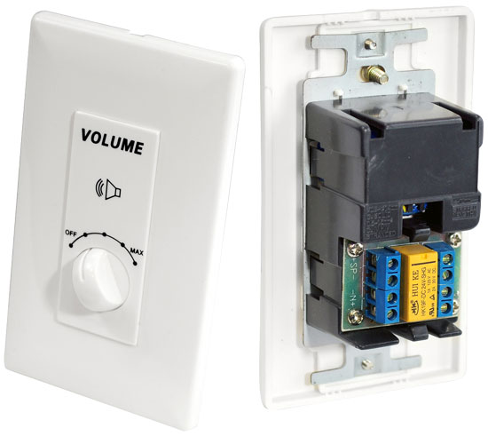 Pyle - PVC3 , Home and Office , Wall Plates - In-Wall Control , High Power Mono Volume Control With Built In Relay Circuit