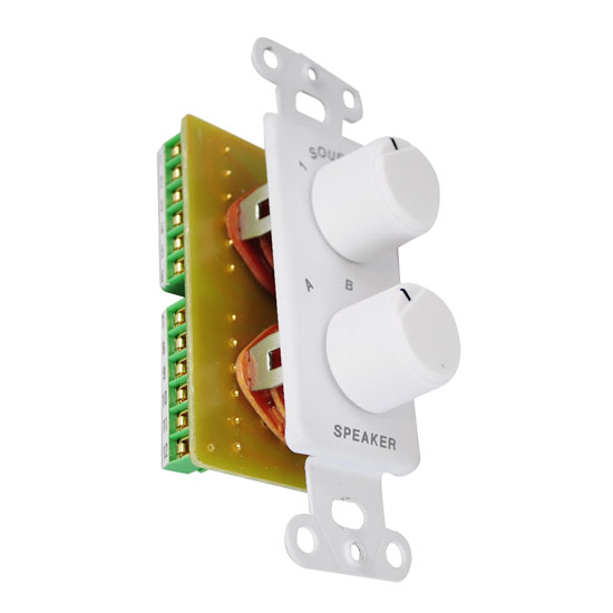 Pyle - PVCS5 , Home and Office , Wall Plates and In-Wall Control , In-Wall A/B Speaker/Source Switch