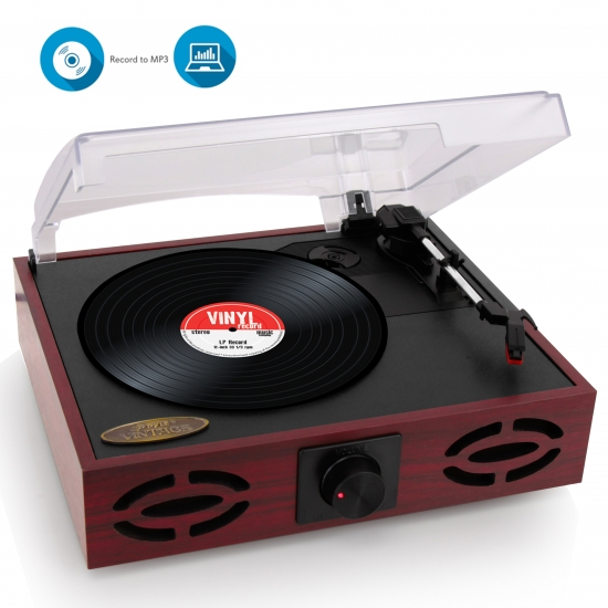 Pyle - PVNT7U , Musical Instruments , Turntables - Phonographs , Sound and Recording , Turntables - Phonographs , Vintage Classic-Style Turntable Record Player with Vinyl-to-MP3 Recording