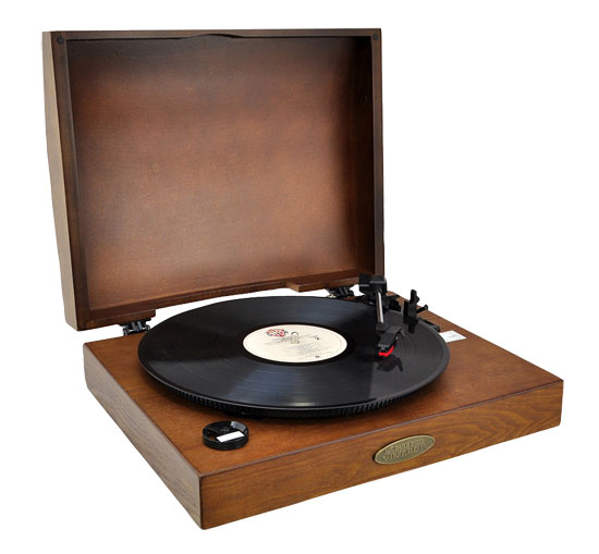 Pyle - PVNTT1T , Musical Instruments , Turntables - Phonographs , Sound and Recording , Turntables - Phonographs , Classic Retro USB Phonograph/Turntable With Aux-Input Jack (Tan)