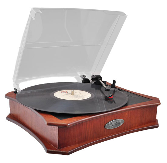 Pyle - PVNTT5UR , DJ Equipment , Turntables , Retro Style Vinyl Turntable With USB-To-PC Recording (Mahogany)