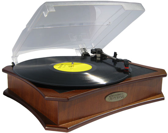 Pyle - PVNTT5UT , Sound and Recording , Turntables - Phonographs , Retro Style Vinyl Turntable With USB-To-PC Recording (Maple)