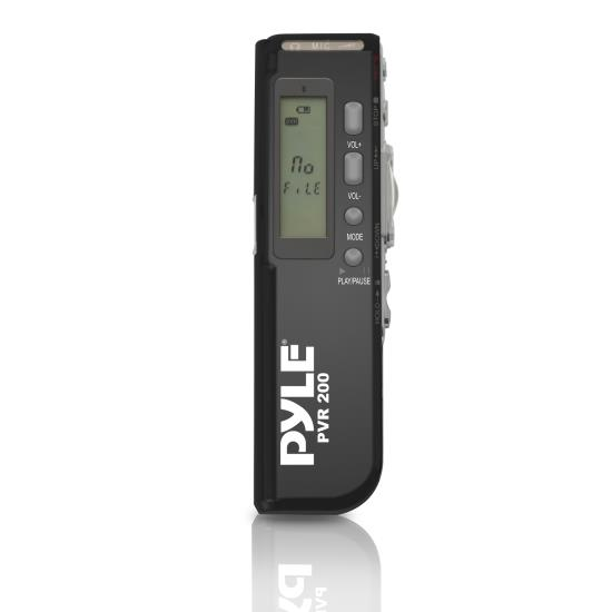Pyle - PVR200 , Gadgets and Handheld , Voice Recorders , Sound and Recording , Voice Recorders , Digital Voice Recorder with 4GB Built-in Memory, Headphone Jack, LCD Display & Built-in Speaker