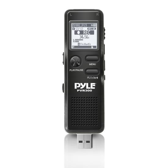 Pyle - PVR300 , Gadgets and Handheld , Voice Recorders , Sound and Recording , Voice Recorders , Rechargeable Digital Voice Recorder with USB & PC Interface, Built-in Rechargeable Battery, Micro SD Slot, 4GB Built-in Memory & Headphone Jack