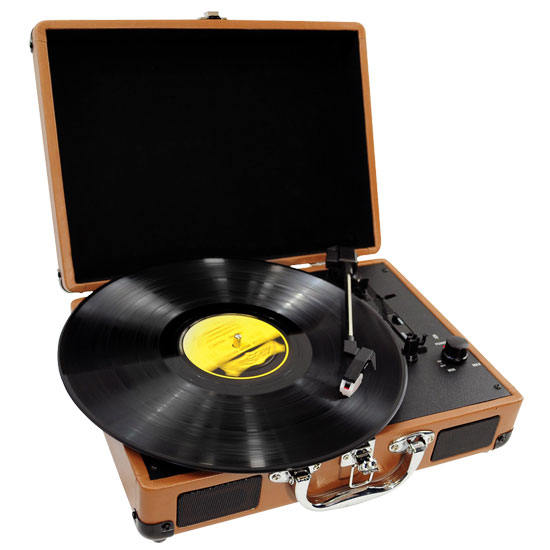 Pyle - PVTT2UWD , DJ Equipment , Turntables , Retro Belt-Drive Turntable With USB-to-PC Connection, Rechargeable Battery