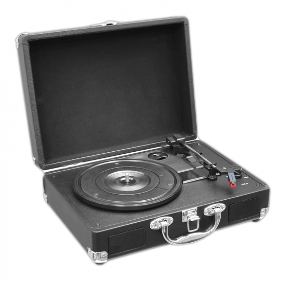 Pyle - PVTT2UBK , DJ Equipment , Turntables , Retro Belt-Drive Turntable with USB-to-PC Connection, Rechargeable Battery (Black)