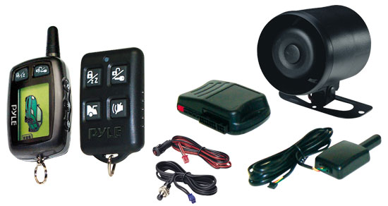 Pyle - PWD250 , On the Road , Alarm - Security Systems , LCD 2-way Security System