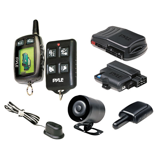 Pyle - PWD901 , On the Road , Alarm - Security Systems , LCD 2-Way Remote Start Security System w/Advanced Impact Sensor