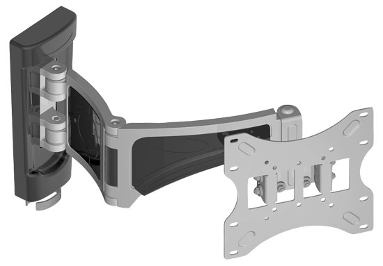 Pyle - PWLB151 ,  , 14'' To 37'' Flat Panel  Double  Arm Articulating Tlit & Swivel LLED TV Wall Mount