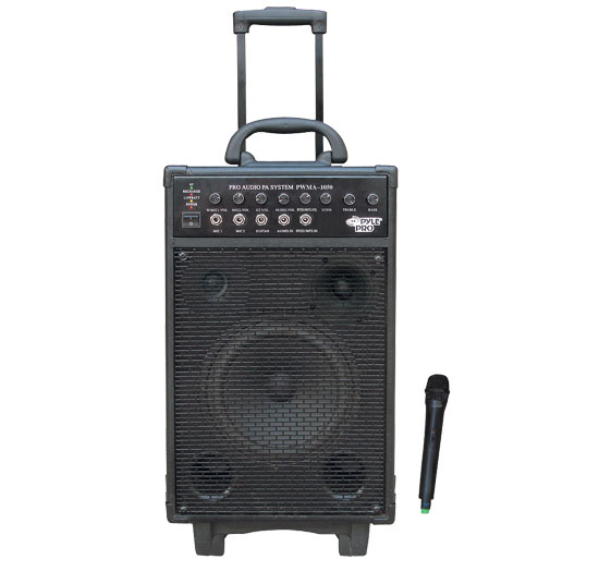 Pyle - RBPWMA1050 , DJ Equipment , Wireless PA Systems , 800 Watt VHF Wireless Battery Powered Pa System W/Echo/Ipod/MP3 Input Jack