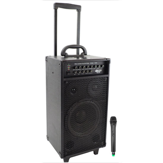 Pyle - RBPWMA1080I , DJ Equipment , Wireless PA Systems , 800 Watt VHF Wireless Portable PA System/Echo w/iPod Dock