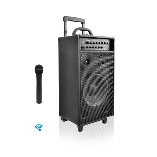 Pyle - PWMA1080IBT , Sound and Recording , PA Loudspeakers - Cabinet Speakers , Wireless Portable Bluetooth PA Speaker System, Built-in Rechargeable Battery, iPod Dock, 800 Watt