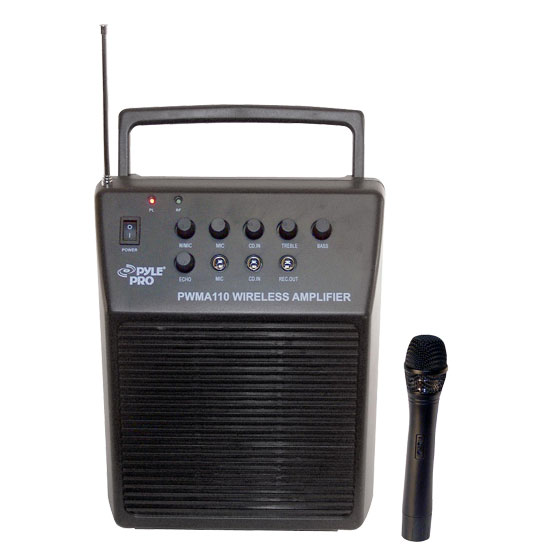 Pyle - RBPWMA110 , DJ Equipment , Wireless PA Systems , Rechargeable Portable PA System w/Wireless Mic
