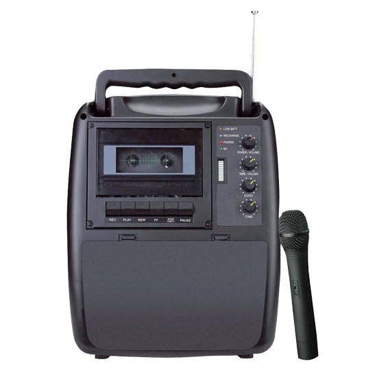 Pyle - RBPWMA130 , DJ Equipment , Wireless PA Systems , Rechargeable Portable PA System  w/Wireless Mic & Cassette Player