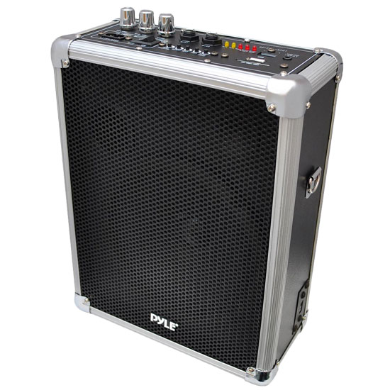 Pyle - PWMA160 , DJ Equipment , Wireless PA Systems , Dual Channel 400 Watt Wireless PA System w/USB/SD and 2 VHF Wireless Microphones (1 Lavalier, 1 Handheld)