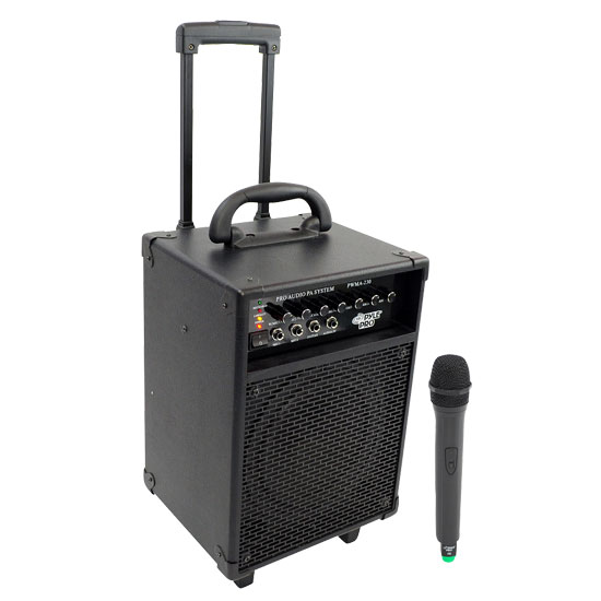 Pyle - PWMA230 , DJ Equipment , Wireless PA Systems , 200W VHF Wireless Battery Powered PA System