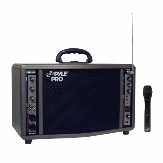 Pyle - PWMA3600 , DJ Equipment , Wireless PA Systems , 200 Watt Wireless Battery Powered PA System