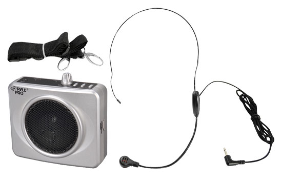 Pyle - PWMA60US , DJ Equipment , Wireless PA Systems , 50 Watts Portable, USB Waist-Band Portable Pa System With A Headset Microphone w/Built In Rechargeable Batteries (Color Silver)