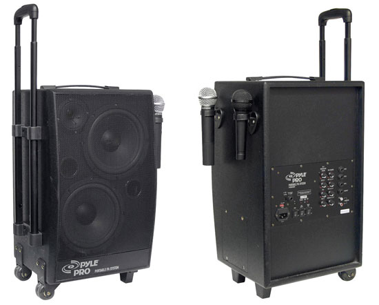 500w vhf wireless battery powered pa system. Black Bedroom Furniture Sets. Home Design Ideas