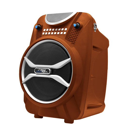Pyle - PWMAB210OR , Sound and Recording , PA Loudspeakers - Molded Cabinet Systems , Boom Rock Bluetooth Karaoke Speaker and Recording System, Built-in Rechargeable Battery, Wireless Microphone, USB/SD Card Readers, FM Radio and Remote Control (Orange)