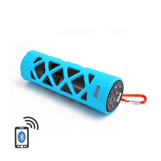 Pyle - PWPBT30BL , Marine and Waterproof , Portable Speakers - Boom Boxes , Gadgets and Handheld , Portable Speakers - Boom Boxes , Bluetooth Water Resistant Flashlight Speaker with Call Answering Microphone, FM Radio, Micro SD Card Reader, AUX-Input (Blue)