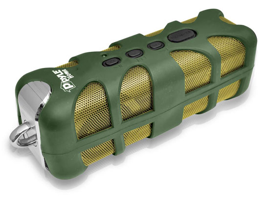 Pyle - PWPBT60GN , Marine and Waterproof , Portable Speakers - Boom Boxes , Gadgets and Handheld , Portable Speakers - Boom Boxes , Sound Box Splash Rugged and Splash-Proof Bluetooth Marine Grade Portable Wireless Speaker (Green)